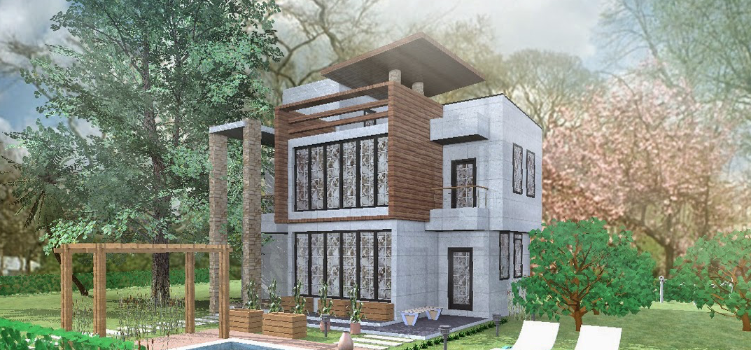 Render country house